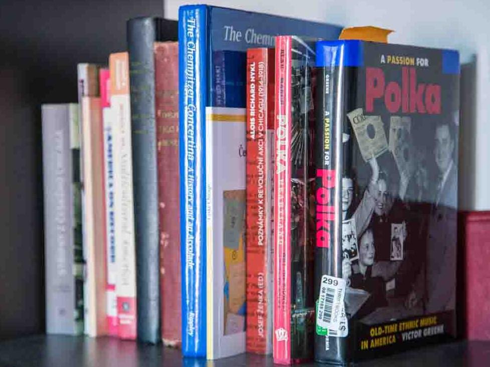 Knihy na polici